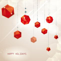Red crystal ornaments