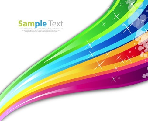 Rainbow Color Abstract Background