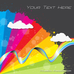 Rainbow Cloud Background