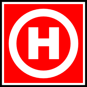 fire hydrant sign symbol