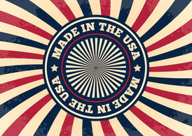 Made in the USA Grunge Background