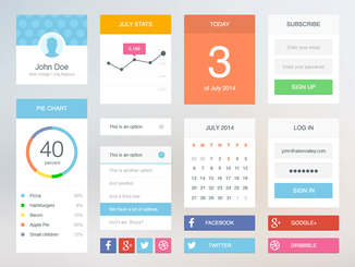 Soft Flat UI Kit