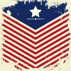 USA flag vector grunge design