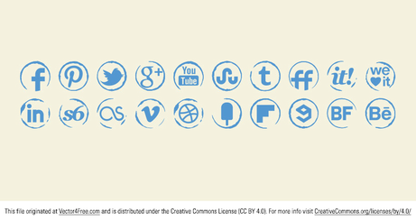 Stamp Icon Vectors Set