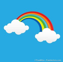 Comic Rainbow Clouds