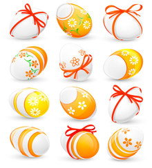 Free vector of cartoon elements poster of easter