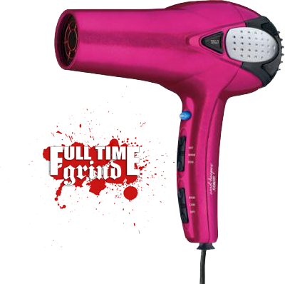 pink blow dryer PSD