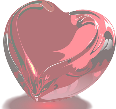 red glass heart PSD