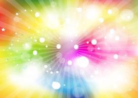 Rainbow Light Burst