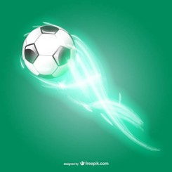 Soccer ball light speed