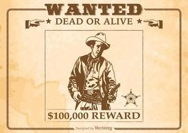 Free Vector Wanted Old Poster
