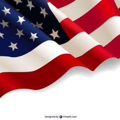 United States waving flag free background