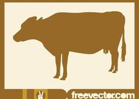 Cow Silhouette Image
