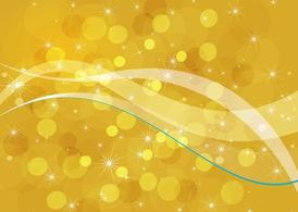 Golden Bubbles Background