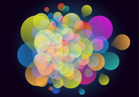 Abstract Colorful Design on Dark Background