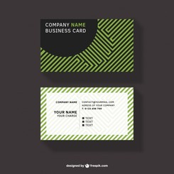 Business card vector free design