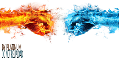Free Fire & Ice Fists PSD Vector Graphic - VectorHQ.com