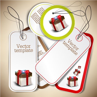 Exquisite creative label sticker vector-5