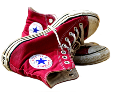 dirty red converse . PSD