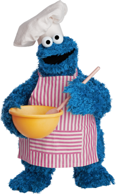 Free COOKIE MONSTER PSD Vector Graphic - VectorHQ.com