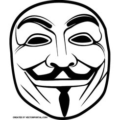 GUY FAWKES ANONYMOUS MASK VECTOR.eps