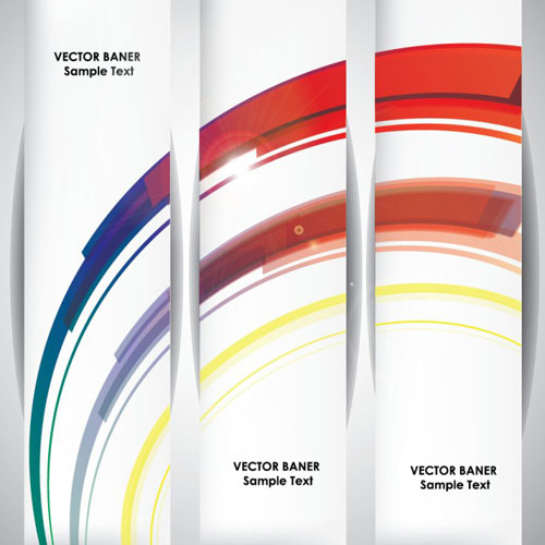 Abstract Horizontal Banners