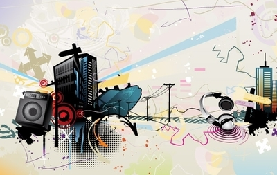 The Trend of Music Illustration Vector Material 3