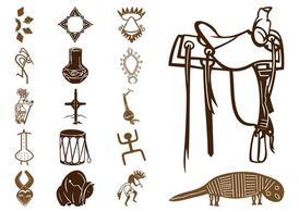 Native American Symbols Set