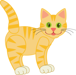 Yellow Tiger Cat(four legs)