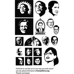 POLITICAL FACES VECTOR PACK.eps