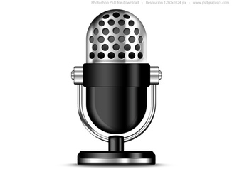 Old microphone icon (PSD)