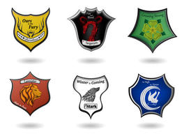 Free Game of Thrones Vectors with Coats of Arms Vector