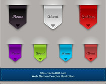 Web Element. Bookmarks and Banner