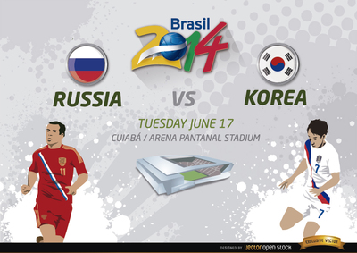 Russia Vs. Korea match for Brazil 2014