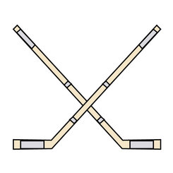 CROSSED HOCKEY STICKS VECTOR IMAGE.ai