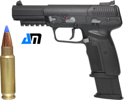 FN 5.7 Pistol with 30 round mag & bullet PSD