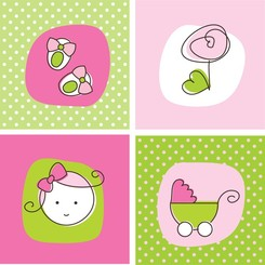 Theme Of Vector Cute Baby Items