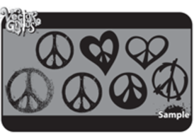 Free Peace Sign Vector Art and Grungy Peace Vector Set
