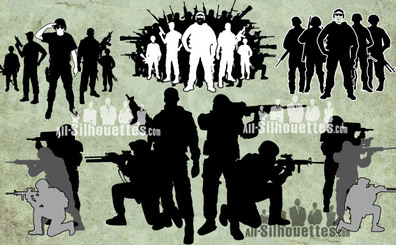 12 Vector soldiers crowd