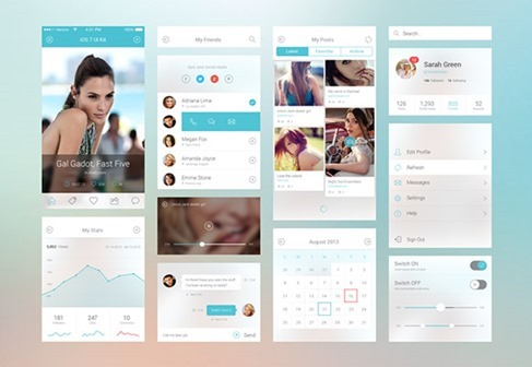 iOS 7 UI Kit Components