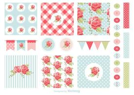 Free Shabby Chic Patterns And Garlands