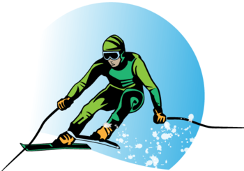 Skier Vector Free