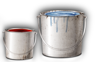 Paint buckets PSD
