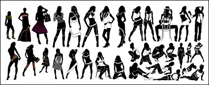 Variety of fashionable female silhouette