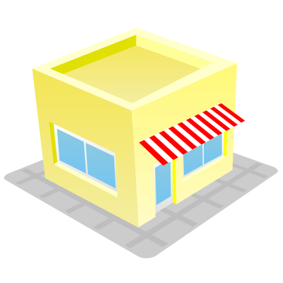 Cute & Funky Store House Building