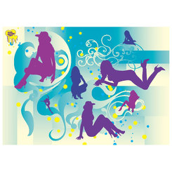 BEAUTIFUL GIRLS VECTOR SILHOUETTES.eps