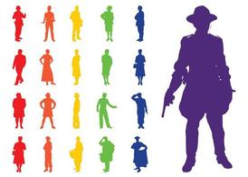 Professions Silhouettes Set