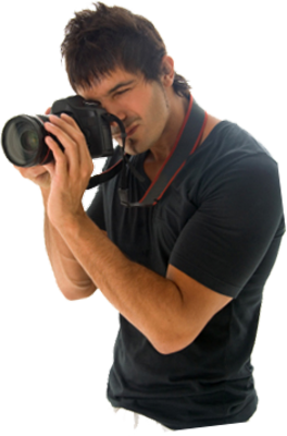 Photographer With Camera PSD