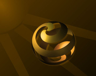 Free Vector Background with Golden Sphere