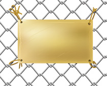 Metal Plate on a Wire Net